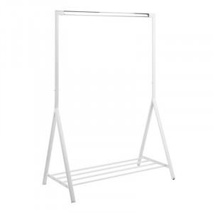 Suport alb/argintiu din metal pentru umerase 165 cm Brent Actona Company
