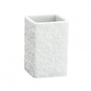 Suport alb din polirasina pentru periuta dinti 7,5x11 cm Villata Wenko