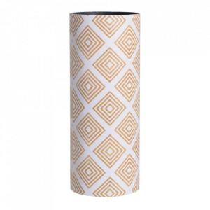 Suport alb/maro din lemn si PVC pentru umbrela 50 cm Millia Ixia