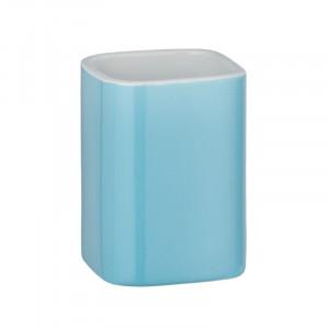 Suport albastru din ceramica pentru periuta dinti 6,5x9 cm Elmo Wenko