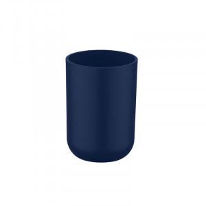 Suport albastru inchis din elastomer termoplastic pentru periuta dinti 7,3x10,3 cm Brasil Wenko