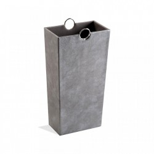 Suport argintiu din piele pentru umbrela 53 cm Umbrella Stand Silver Versa Home