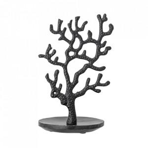 Suport bijuterii negru din marmura si aluminiu 28 cm Thyra Bloomingville