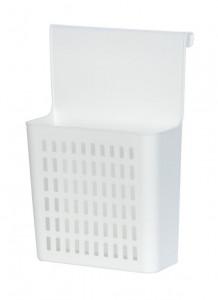 Suport bucatarie alb din polipropilena 24x35,5 cm pentru usa Door Organizer Wenko
