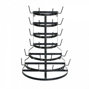 Suport cesti negru din metal Ravia Creative Collection