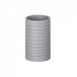 Suport gri din ceramica pentru periuta dinti 6,5x10,5 cm Mila Wenko