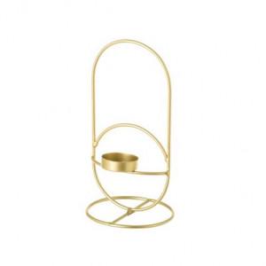 Suport lumanare auriu din fier 20 cm Laty Unimasa