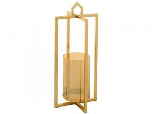 Suport lumanare auriu din metal 38 cm West Gold Santiago Pons