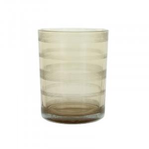 Suport lumanare grej din sticla 13 cm Moeshe Lifestyle Home Collection