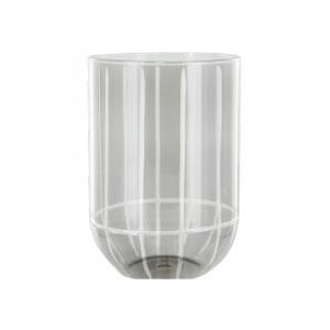 Suport lumanare gri din sticla 15 cm Levon Lifestyle Home Collection