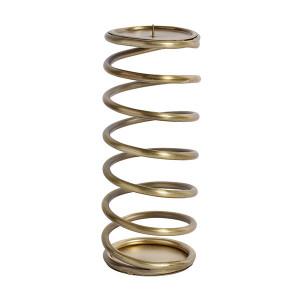 Suport lumanare maro alama din fier 26 cm Spiral Nordal