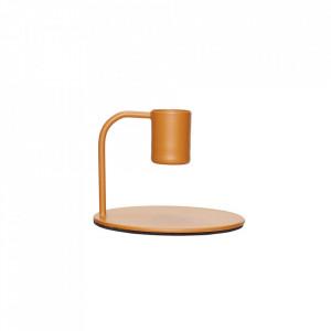 Suport lumanare maro din metal 6 cm Brown Candlestick Hubsch