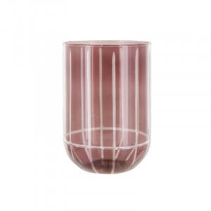 Suport lumanare mov din sticla 15 cm Levon Lifestyle Home Collection