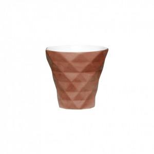 Suport lumanare mov pruna din ceramica 8 cm Angelo Hubsch