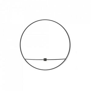 Suport lumanare negru din otel 12 cm POV Circle Menu