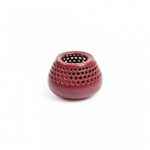 Suport lumanare rosu din ceramica 8 cm Lonnie La Forma