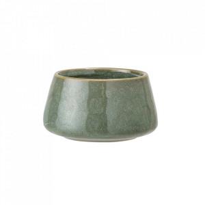 Suport lumanare verde din ceramica 4,5 cm Ronja Bloomingville