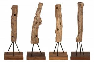 Suport maro din lemn de tec pentru sticle Hemingway Invicta Interior
