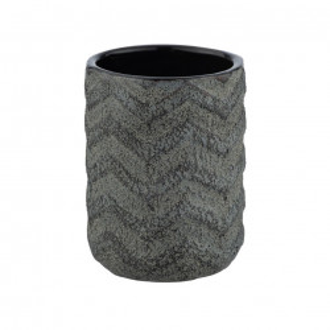 Suport negru din ceramica pentru periuta dinti 7,5x10 cm Mantua Wenko