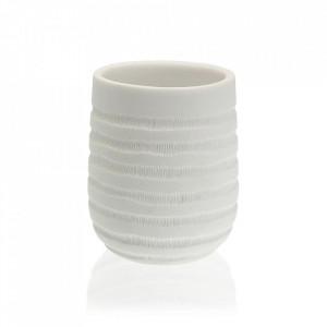 Suport pentru periuta de dinti alb din rasina 8x9 cm Naomi Versa Home