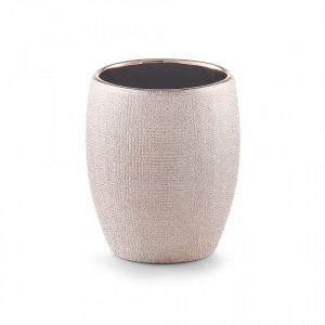 Suport roz din ceramica 8,1x9,8 cm pentru periuta dinti Glitter Tumbler Zeller