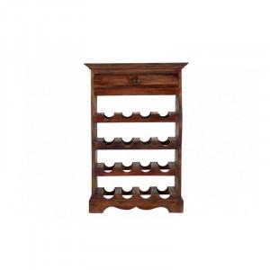 Suport sticle maro din lemn de mahon antichizat Hemingway Invicta Interior