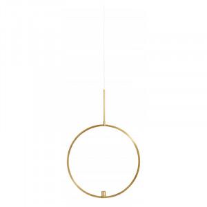 Suport suspendabil pentru lumanare auriu din metal 62 cm Circle Nordal