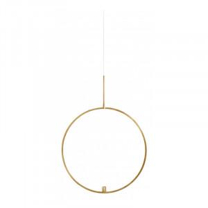 Suport suspendabil pentru lumanare auriu din metal 72 cm Circle Nordal
