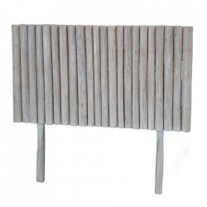 Tablie pat alba din lemn de tec 140 cm Lastrup Ixia