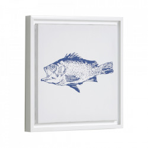 Tablou alb/albastru din canvas si MDF 30x30 cm Lavinia Kave Home