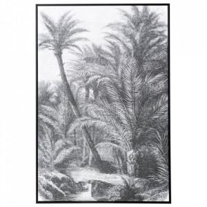 Tablou alb/negru din canvas si lemn de pin 82x122 cm Forest Ixia