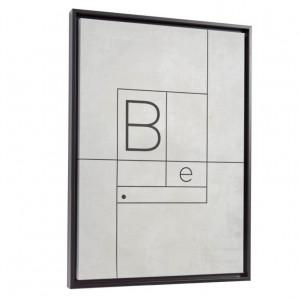 Tablou alb/negru din canvas si MDF 50x70 cm Myrthe White Kave Home