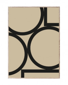 Tablou cu rama din lemn de stejar Simple Forms II Paper Collective