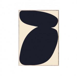 Tablou cu rama din lemn de stejar Solid Shapes 03 Paper Collective