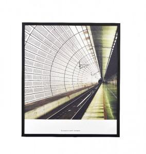 Tablou cu rama din metal negru 31x36 cm Places House Doctor