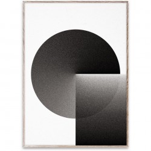 Tablou cu rama stejar EO Shapes 03 Paper Collective