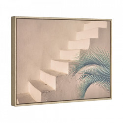 Tablou maro din canvas si MDF 50x70 cm Lucie Staircase Kave Home