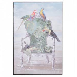Tablou multicolor din canvas si lemn de pin 80x120 cm Paraguay Ixia