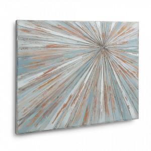 Tablou multicolor pictat din panza 70x90 cm Darkness La Forma
