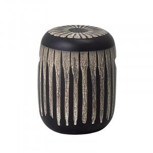 Taburet decorativ rotund maro din ceramica 34,5 cm Harith Bloomingville