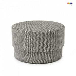 Taburet rotund din textil 70 cm Silo Black Albagia Normann Copenhagen