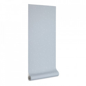Tapet alb/albastru din hartie 53x1000 cm Ludmila Kave Home