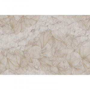 Tapet alb/crem din hartie cu fibre de nailon Opulence Marble Rebel Walls