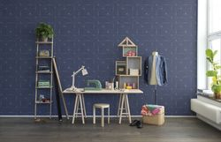 Tapet Perfect Fit Royal Blue Rebel Walls