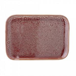 Tava dreptunghiulara maro din ceramica 31,5x24,5 cm Bloomingville