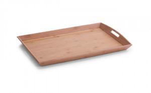 Tava dreptunghiulara maro din lemn 38x58 cm Tablett Zeller
