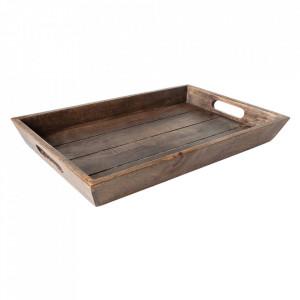 Tava dreptunghiulara maro din lemn antichizat 29x44 cm Alan Invicta Interior