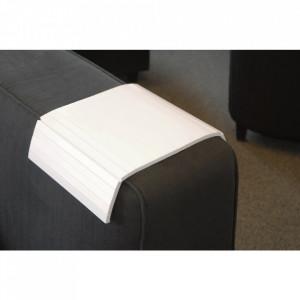 Tava pentru cotiera alb din lemn de mesteacan 32x46 cm Arm Rowico Home
