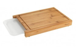 Tocator dreptunghiular maro/alb din lemn si polipropilena 25x35 cm Bruno Tray Wenko