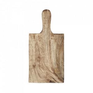 Tocator dreptunghiular maro din lemn de mango 12,5x26,5 cm Gio Madam Stoltz